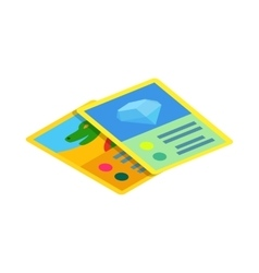 Children game cards icon isometric 3d style vector