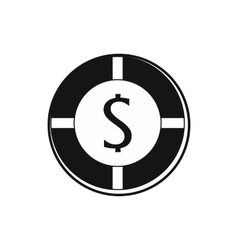 Casino chip icon simple style vector