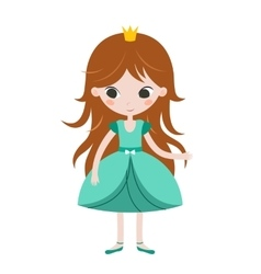 Beautiful princess on white vector