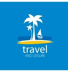 Logo travel vector