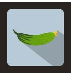 Fresh cucumber icon in flat style vector