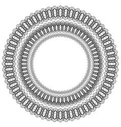 Circle geometric ornament vector