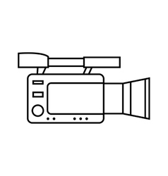 Videocamera icon broadcasting design vector