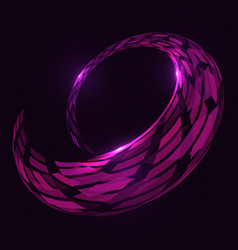 Abstract 3d spiral torus shape vector