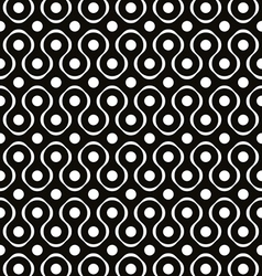 Abstract geometric black and white background vector image vector image
