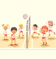 Back to sport school children vector