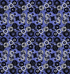 Blue abstract background with circles vector image vector image
