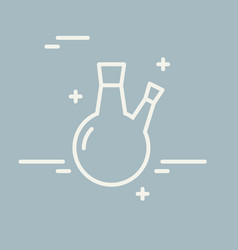 chemical round bottom flask line icon vector image vector image