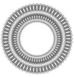 Circle Geometric Ornament vector image