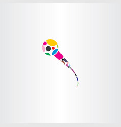 Colorful microphone logo icon vector