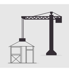 Crane construction tower vector