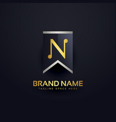 Create letter n logo design template vector