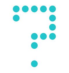 Digital question mark display board round dot vector
