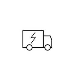 fast delivery truck icon vector image vector image