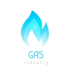 Gas blue flame Industrial conceptual vector image
