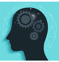 Gear head brain vector