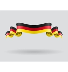 German wavy flag vector image
