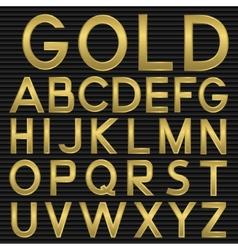 Golden Font vector image