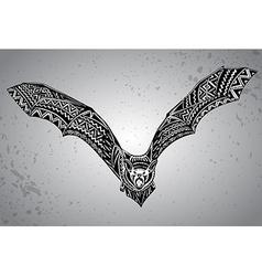 Hand drawn graphic ornate bat vector image
