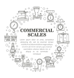 Mechanical kitchen scales icon vector