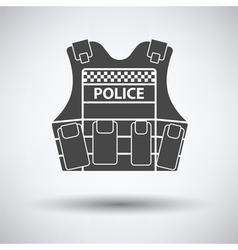 Police vest icon vector