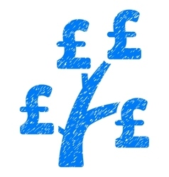 Pound money tree grainy texture icon vector