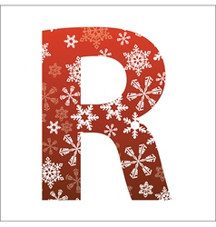 R Letter vector image