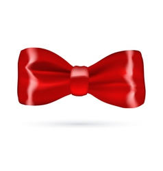 Red gift bow on white background vector image