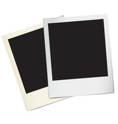 retro paper photo frames vector image