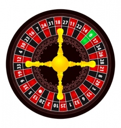 roulette icon vector image vector image