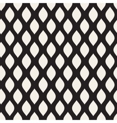 Seamless black and white leaf shape pattern vector
