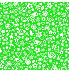 Seamless pattern of flowers vector image vector image
