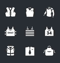 Set of clothes icons vector