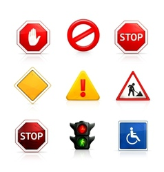 Set of road signs vector
