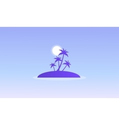 Silhouette of islands with palm vector