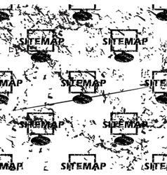 Sitemap pattern grunge monochrome vector