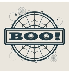 Stamp with boo text vector