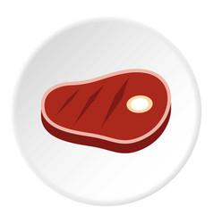 Steak icon flat style vector