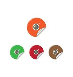 Sticker Camera vector image