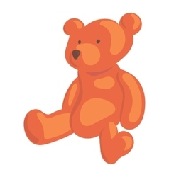 Teddy bear icon cartoon style vector