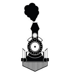 train antique black vector image vector image