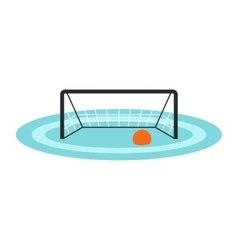 Water polo gates icon vector