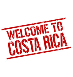 Welcome to costa rica stamp vector