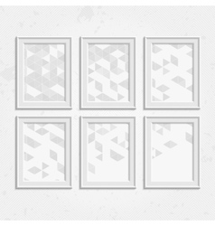 White frame set vector image