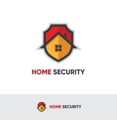 Home security logo vector image