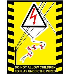 Danger high voltage signs banner vector
