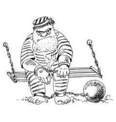 Prison inmate vector