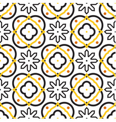 Azulejos black and white mediterranean seamless vector