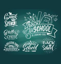 vintage emblem set for school and university vector image