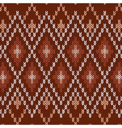 Seamless knitwear pattern vector